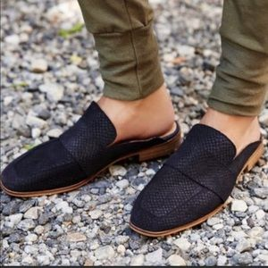 Free People black loafers